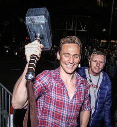 lolawashere: Finally its hammer time for Loki! Tom Hiddleston...