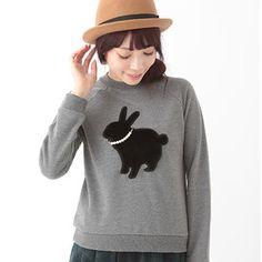 J-Fashion / Tops / earth music&ecology Rabbit Pullover Tokyo Otaku Mode, Ecology, Hoodies, Sweatshirts, Rabbit, Graphic Sweatshirt, Earth, Pullover, Music