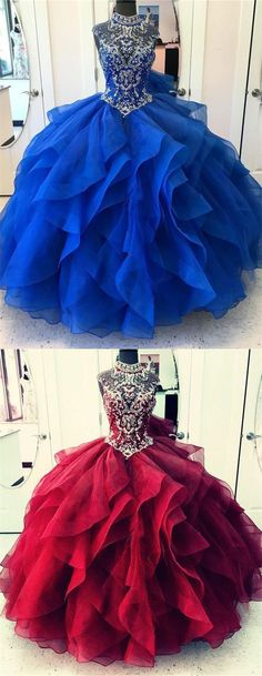 Kikiprom are the best places for you to buy affordable 2019 organza quinceanera dresses ball gown high neck beaded bodice We offer cheap yet elegant 2019 organza quinceanera dresses ball gown high neck beaded bodice for petites and plus sized women. Prom Dresses Online, Cheap Prom Dresses, Prom Party Dresses, 15 Dresses, Ball Dresses, Evening Dresses, Girls Dresses, Formal Dresses, Pagent Dresses