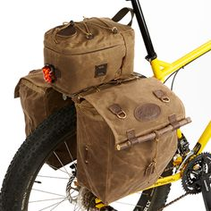 Taconite Trail Bike Trunk No.385 with Highway 1 Panniers No.384 - Frost River