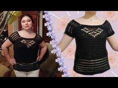 Diy And Crafts, T Shirts For Women, Beautiful, Youtube, Wicked, Fashion, Crochet Blouse, Templates, Outfits