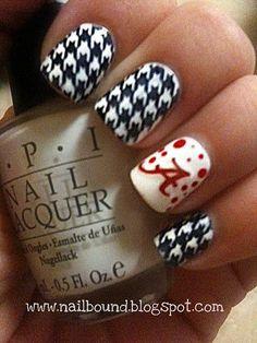 Bama nails | Flickr - Photo Sharing!