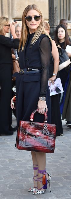 Olivia Palermo at the Christian Dior show in tasseled Jimmy Choos. luxuryshoeclub.com