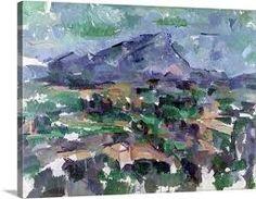 Paul Cezanne Poster Print Wall Art Print entitled Montagne Sainte Victoire, 1904 06 (oil on canvas), None Claude Monet, Caravaggio, Landscape Art, Landscape Paintings, Mountain Landscape, Paul Cezanne Paintings, Cezanne Art, Pierre Auguste Renoir, Poster Prints