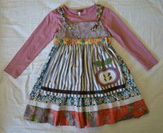 Matilda Jane You & Me PERCY Apple Bottle Apron Knot Dress & ROSEMARY Tee EUC 6