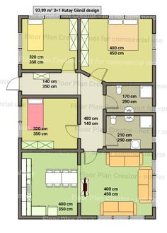 (notitle) The cost reach of the Apartment was amazing. 3d House Plans, Small House Floor Plans, Simple House Plans, House Layout Plans, Cottage Style House Plans, Best House Plans, House Layouts, 20x40 House Plans, House Construction Plan