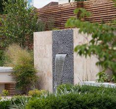 Wandbrunnen Modern Innen Außen Gestalten Monolith Garten #garden