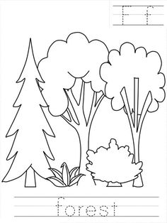 Forest Worksheet Coloring Page : Coloring Sky Forest Coloring Pages, Coloring Pages For Kids, Forest Painting, Rock Painting, Big Mountain, Online Coloring, Preschool Worksheets, Coloring Sheets, Seas
