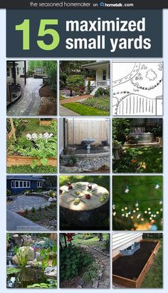 Make the most of your small yard with these great backyard landscaping on a budget ideas. Check out these designs for a small yard. Small Yard Landscaping, Small Backyard Landscaping, Backyard Ideas, Backyard Patio, Sloped Backyard, Patio Ideas, Small Gardens, Outdoor Gardens, Verge