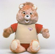 I HAD to have a Teddy Ruxpin. Once I got him, I hardly played with him. Teddy Ruxpin got boring. Not to mention, he creeped me out a little. And the cassette tape was sometimes muffled. Teddy Ruxpin, My Childhood Memories, Childhood Toys, Antique Toys, Vintage Toys, Vintage Stuff, Vintage Movies, Vintage Photos, Bear Toy