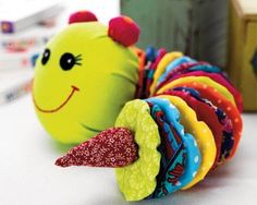 Kids' Caterpillar Toy :: made of yoyos :: Make a free acct to view tutorial: