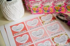 Shower of Roses: Conversation Hearts Bible Verse Valentines
