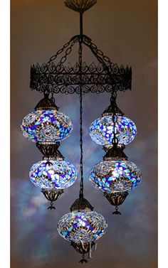 Mosaic Chandelier -Dining room :)