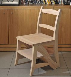 A chair that turns into a ladder!