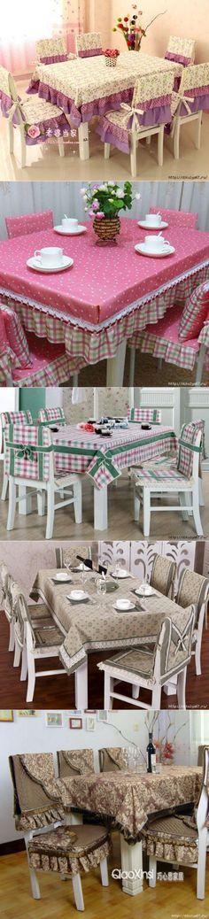 Скатерти и чехлы на стулья для кухни Home Projects, Home Crafts, Diy And Crafts, Sewing Projects, Projects To Try, Chair Covers, Table Covers, Curtain Designs, Home Textile