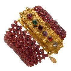 """""""REGARD"""" Garnet Bracelet"""