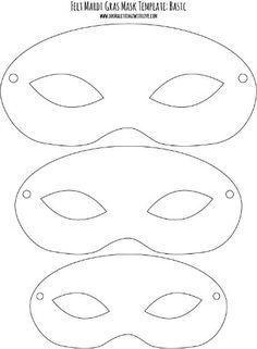 Mardi Gras Felt Mask Template--Basic