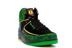 san francisco 260e4 6f2b7 Jordans 2 Retro Charity Black Green Jordans Sneakers, Air Jordan Sneakers,  High Top Sneakers