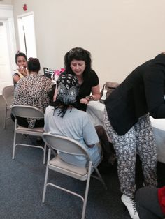 Kiss & Tell Pro Cosmetic makeup artist at the 2nd Annual Women's Business Makeover