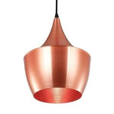 Wide Beat Pendant Light in Copper. I wish this were in my kitchen right now.