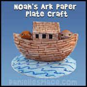 Paper Plate Noah's Ark Sunday School Craft for kids from www.daniellesplace.com