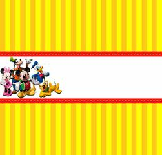 A casa do Mickey Mouse Fiesta Mickey Mouse, Mickey Mouse Club, Mickey Party, Mickey Mouse Birthday, Mickey And Friends, Candy Bar Labels, Candy Bar Wrappers, Mickey Mouse Playhouse, Mickey Clubhouse