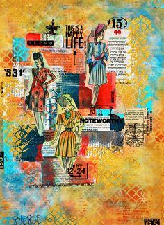 Vintage ladies Collage