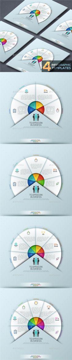 Modern Infographic Circular Template (4 Items) - PSD, Vector EPS, AI Illustrator