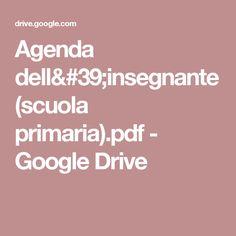 Agenda dell'insegnante (scuola primaria).pdf - Google Drive