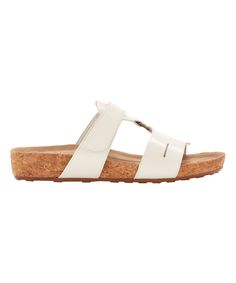 White Penny Leather Slide