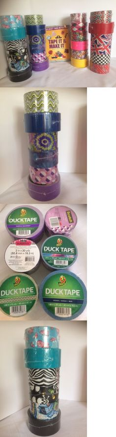 Craft Tape 122694: Bulk Lot 24 Rolls Colored Assorted Duct Tape Pack Print Patterns And Craft Book -> BUY IT NOW ONLY: $39.99 on eBay!