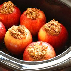 Gonna make these tonight!! Crock-Pot Baked Apples