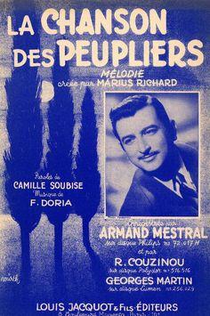 ARMAND MESTRAL - F. DORIA - LA CHANSON DES PEUPLIERS - COUPLET MUSIKNOTE