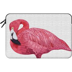 Flamingo 2016 - Macbook Sleeve (195 BRL) ❤ liked on Polyvore featuring accessories, tech accessories and macbook sleeve