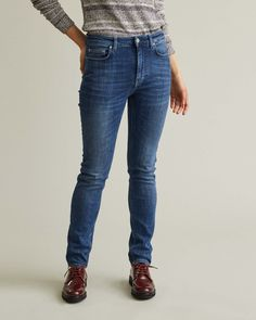 Slim waist denim is a new denim style, featuring a high waist and slim fit. In a classic five pocket design, the Slim waist denims are a true wardrobe hero all through the fall season. Slim Waist, High Waist, Denim Style, Fall Season, Denim Fashion, Apothecary, Designing Women, Hero, Pocket