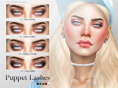 Sims 4 CC's - The Best: Puppet Lashes by Pralinesims