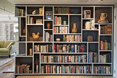 Mondrian Bookcase eclectic living room