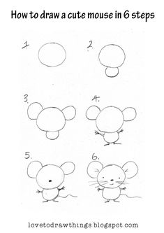 How to draw a cute mouse How to draw all kinds of things!