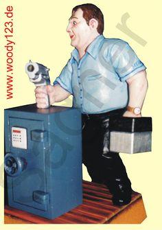 Sicherheitsbeamter - Räuchermännchen