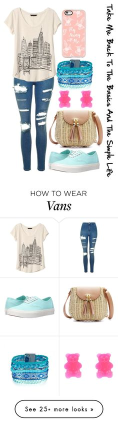 """Take Me Back To The Basics And The Simple Life"" by bringcolortomyskies on Polyvore featuring Topshop, Banana Republic, Vans and Casetify"