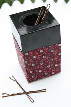 Store bobby pins in paper clip holder!!