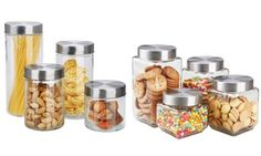 Groupon - Home Basics Glass Canister Set with Airtight Lids (8-Piece). Groupon deal price: $19.99