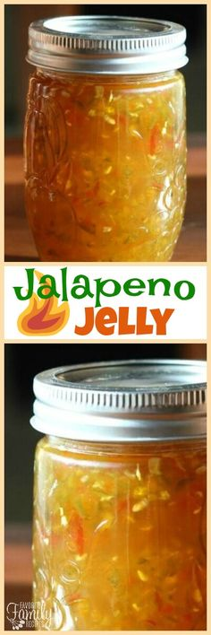 This homemade Jalapeño Jelly is so flavorful! It tastes like a fancy jelly you would find at Williams-Sonoma or Harry and David.tried this one varied KM Jalapeno Pepper Jelly, Pepper Jelly Recipes, Jalapeno Jam, Hot Pepper Jelly, Jalapeno Recipes, Jam Recipes, Canning Recipes, Jalapeno Ideas, Marmalade