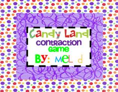 """Candy Land Contraction Game - Pinned by @PediaStaff – Please visit http://ht.ly/63sNt for all (hundreds of) our pediatric therapy pins"