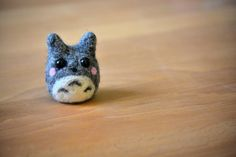 Palm Pet Gray Totoro - Needle Felted Chibi Kawaii Ghibli Character -MelonLoveCrafts in Amherst, New Hampshire