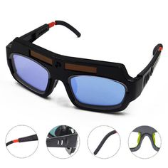 Solar Auto Darkening Welding Glasses Safety Eyes Goggles With Protective Lens Welding Glasses, Welding Goggles, Welding Gear, Mig Welding, Welding Projects, Shielded Metal Arc Welding, Auto Darkening Welding Helmet, Goggles Glasses, Safety Helmet