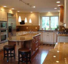 Modern Round Kitchen Island Interesting Ideas | Kitchen Decorating ...