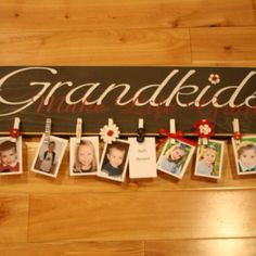 Great gift for grandparents (hey G-parents, don't look)!