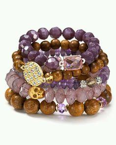 Purple & Brown bracelets