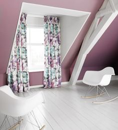 Bridges adorns a contemporary aquarelle floral design printed on a 100 % cotton satin base cloth with an extreme soft handle. The unique combination of soft and fresh colors incorporated in the design gives this fabric a sumptuous charm. Bridges is suitable for curtain use and is available in 6 colour ways. #interiors #linen #decoration #curtains #upholstery #fabric #vintage #florals #gordijnen #meubelstoffen #wooninrichting